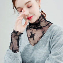 Mesh Top Sexy Mujer Haut Femme Abbigliamento Donna Lace Fairycore Sweet Black Moda Korean Style Women Dentelle Fashion2021White