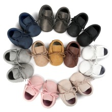 Купить с кэшбэком 2017 Autumn/Spring Baby Shoes Newborn Boys Girls PU Leather Moccasins Sequin First Walkers Baby Shoes 0-18M S2