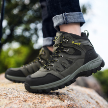 Мужская обувь для пешего туризма с высоким берцем из водонепроницаемого материала; коллекция года; сезон осень-зима; треккинговые ботинки для мужчин; Повседневная Теплая мужская обувь для альпинизма