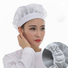 10piece wholesale Net Hat Chef Hats Kitchen Health Work Hats Canteen Restaurant Food Service Bakery Baking Female Breathable Cap