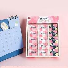 30 шт коробка ластик мультфильм Вишневый цвет веселый розовый