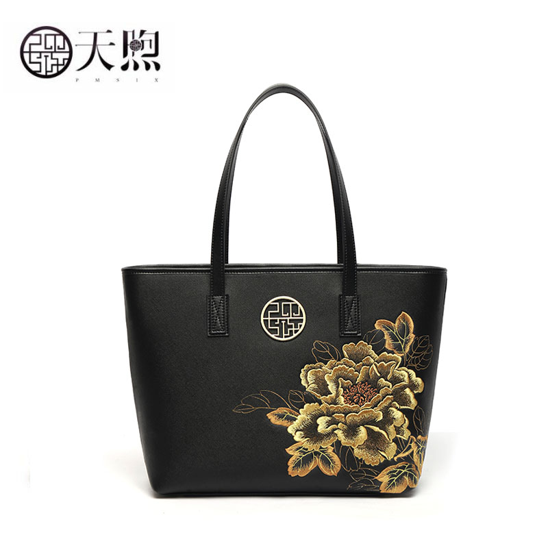 Pmsix 2019 New Fashion Ethnic Style Shoulder Bag Fashion embroidered tote bag