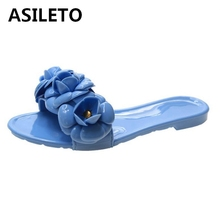ASILETO 2020 new floral slippers summer women slippers indoor casual slippers beach slipper flip flops slides jelly shoes zapato