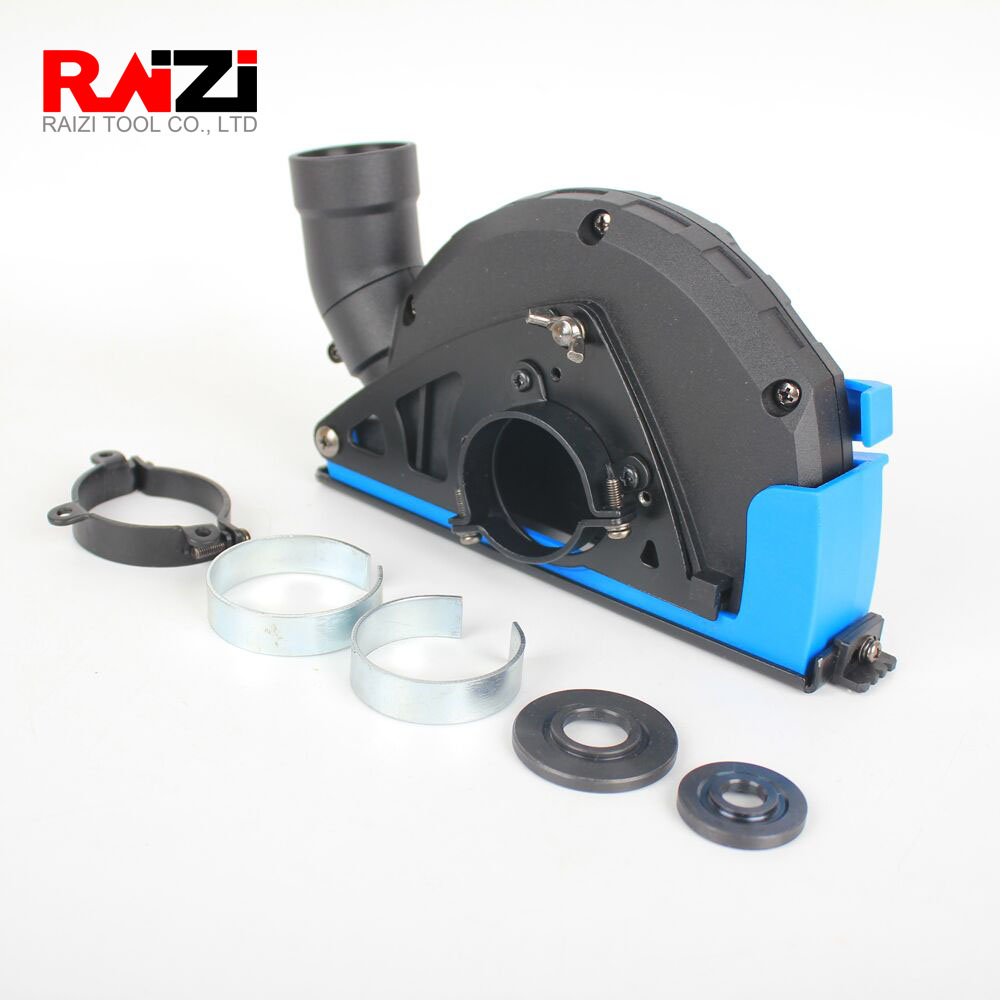Raizi Cutting Dust Shroud For Angle Grinder 4.5, 5 Inch Diamond Saw Blade Dust Collector Attachment Cover Tool