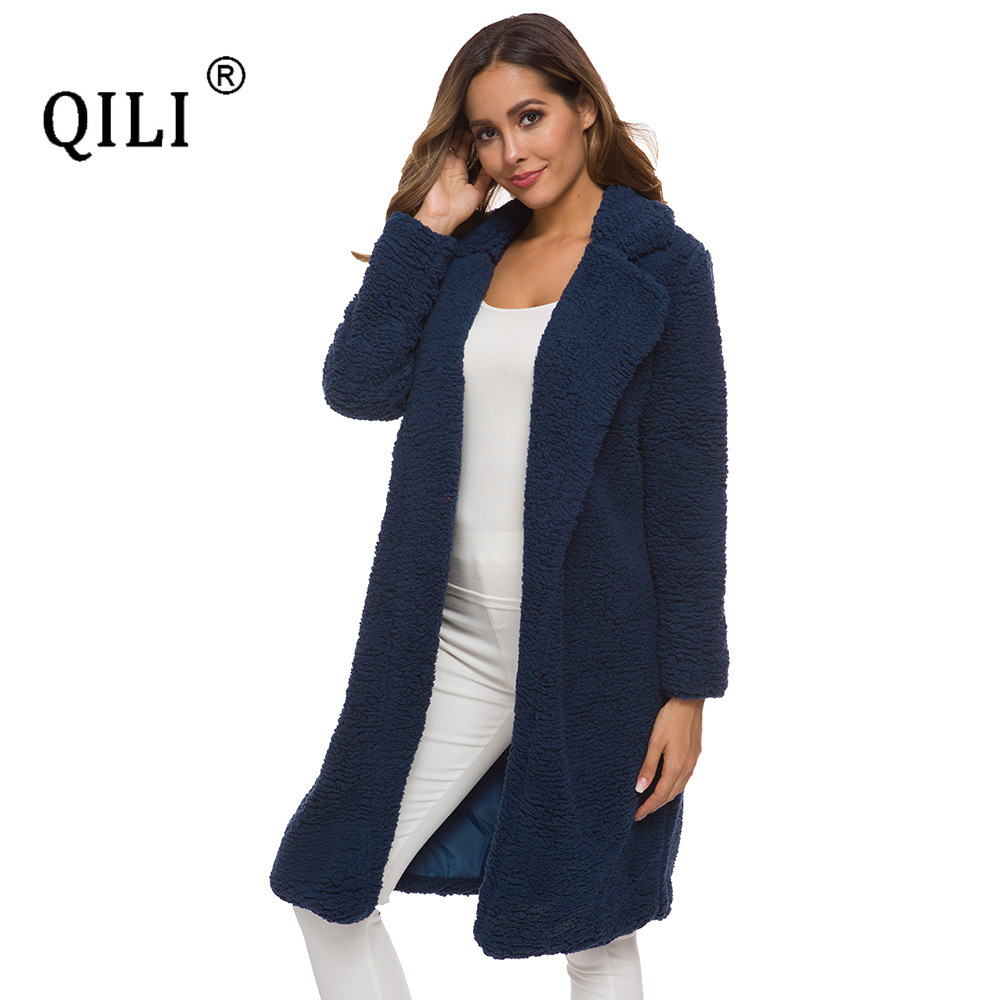 Купить qili женская осенняя и зимняя хлопковая куртка кардиган с длинным