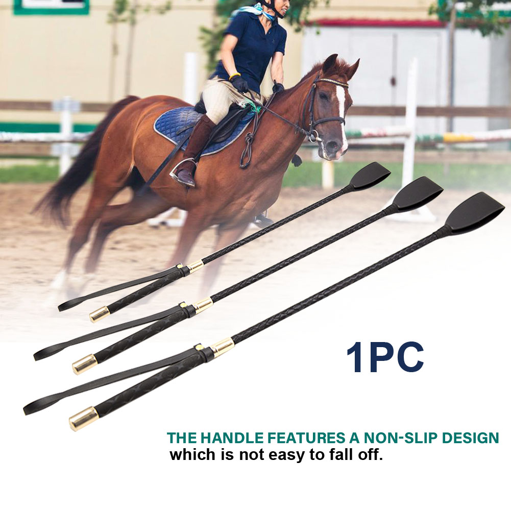 Crop Horse Riding Whip Practical Outdoor Sports Portable Non Slip PU Leather
