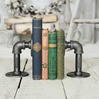 Retro Industriellen Stil Pipeline Buchstützen Neuheit Vintage Pipeline Lederbücher