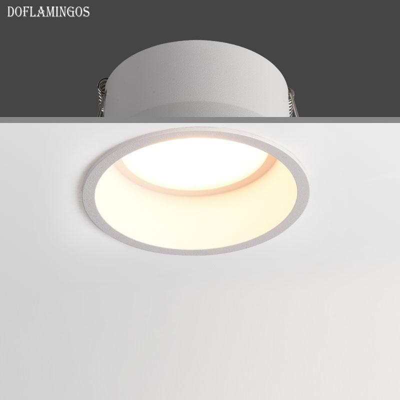 Новый сверхтонкий узкий светодиодный светильник s, Точечный светильник COB 5 Вт 7 Вт 10 Вт 12 Вт 15 Вт CRI 93 CREE светодиодный антибликовый светильник 60 градусов|Точечные прожекторы|   | АлиЭкспресс