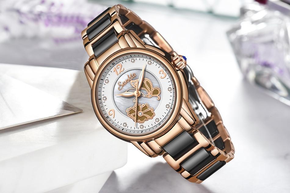 relógio de quartzo senhoras marca superior relógio