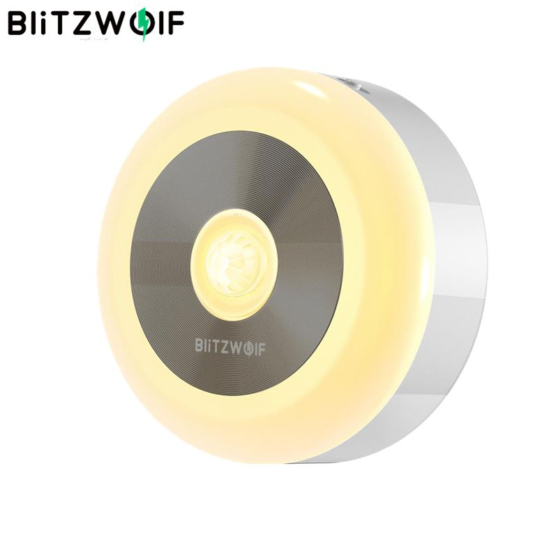 BlitzWolf BW-LT15 Night Lights LED Motion PIR Infrared Sensor Night Light 3000K Color Temperature 120 Degree Lighting Angle