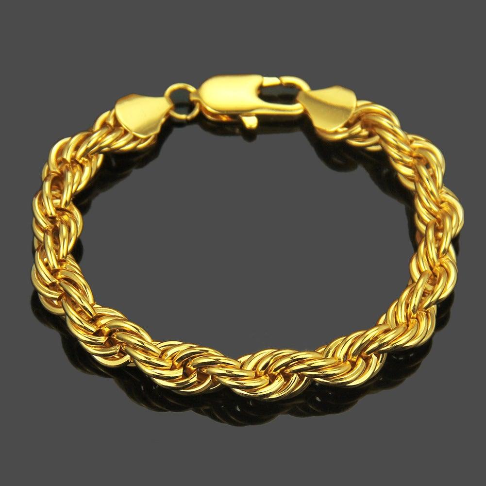 14K Gold Filled Bracelet Solid Cuban Link Lobster Claw 9 5