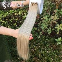 HiArt, 100 г, пряди для наращивания, двойные пряди, человеческие волосы remy для наращивания, пряди для наращивания, прямые волосы, 18 дюймов, 20 дюймов, 22 дюйма