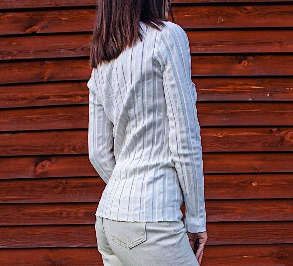 100% 코튼 스웨터 여성 리브 니트 탑스 모의 목 스웨터 풀오버 기본