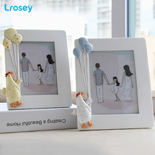 Resin photo frame creative cartoon chicken balloon kids room decoration picture Home accessories porta retrato