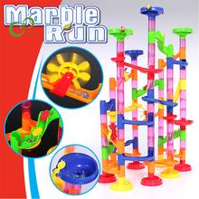105 sztuk zestaw DIY marmur budowlany Race Run Track Building Blocks dzieci Maze Ball Roll zabawki Christmas Gift Ball track toy YJN tanie tanio JOKEJOLLY 2-4 lat 8 ~ 13 Lat Dorośli 14Y 5-7 lat Fantasy i sci-fi Z tworzywa sztucznego JJ20200416145Y