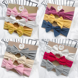 3Pcs/Set Baby Headbands For Newborn Hair Band Cute Baby Bow Flower Elastic Bow Headwear Kids Gifts Girl Hair Accessories