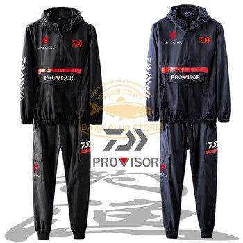 2020 New Fishing Jackets Pants DAWA Outdoor Sports Hooded Windproof Long Sleeves Sunscreen Clothes DAIWA Clothes Cycling Jersey