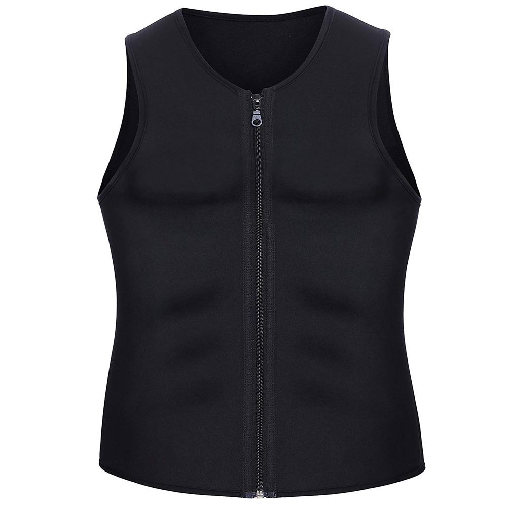 CXZD 2019 Men Waist Trainer Vest for Weightloss Hot Neoprene Corset Body Shaper Zipper Shapewear Slimming Belt Belly Men (6)