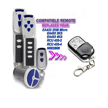 10pcs Compatible with  remote EA433 2KS,EA433 4KS replacement garage door opener free shipping