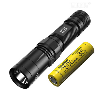 2020 wholesale NITECORE EC23 + IMR18650 Battery 1800LM LED Flashlight Waterproof Outdoor Camping Hight Light Torch Free Shipping
