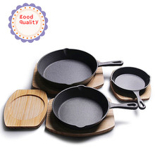 Cookware Cast Iron Cauldron Kitchen Goods Frying Pan Heavy Duty Professional Seasoned Pan Cookware For Frying Saute Cooking