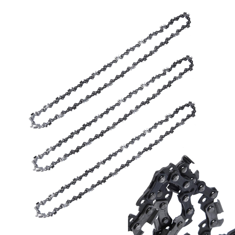 3pcs 16/'/' 0.050/'/' 56DL Bar Chainsaw Chain Semi Chisel for Makita DC UC NB DCS300
