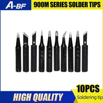 Punta de hierro para soldar de la serie A-BF 900M, puntas de soldadura de alta calidad, estación de soldadura GS90D GS110D, puntas de soldadura, 10 Uds.