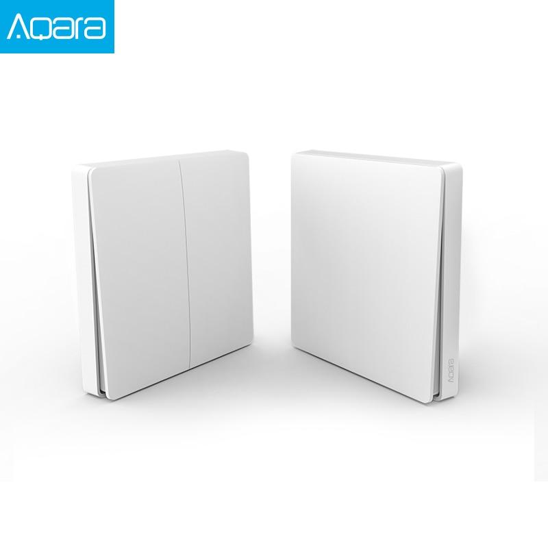 Aqara Wall Switch Smart Light Control Smart Switch Wifi 2.4GHz Wireless Double Key Remote Control By Mi Home App