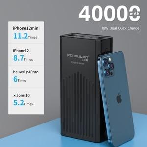 """Image 2 - כוח בנק 40000mah QC 3.0 פ""""ד 18W דו כיוונית מהיר תשלום בנק Power12V Powerbank עבור מחשב נייד/מחברת כוח בנק עבור IPhone 12"""