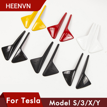Heenvn 2Pcs/Set For Tesla Model 3 Y S X Model3 Side Camera Carbon Fiber ABS Protection Cover For Tesla Model Three Accessories