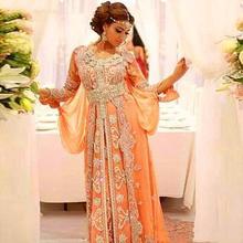 Великолепное вечернее платье с бисером официальное абайя Дубай