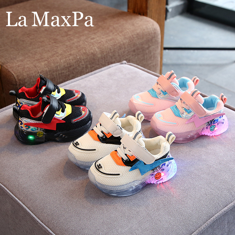 Size 22-30 Luminous Sneakers With Lighted Shoes Glowing Sneakers For Boys Girls Krasovki With Backlight Basket Fille Enfant