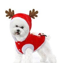 Christmas Dog Clothes Winter Coat For Santa Costume Clothing Pug Chihuahua Pet Cat Soft Jacket for Xmas