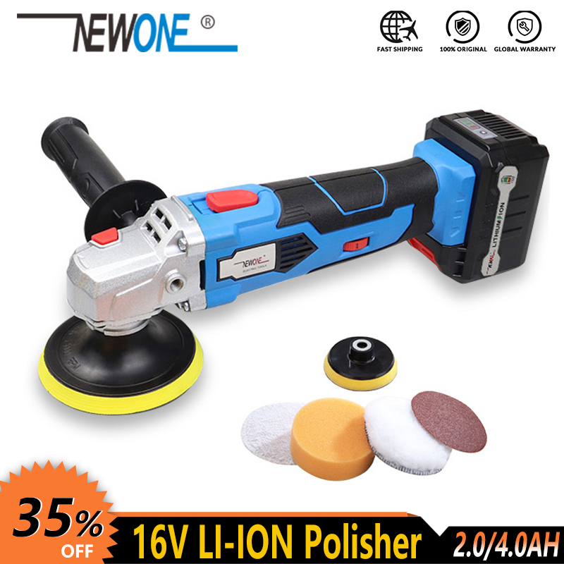 NEWONE 16V Cordless Power Tool Li-ion battery Polisher car shoe floor Polishing machine Cleaning machine with battery accessorie