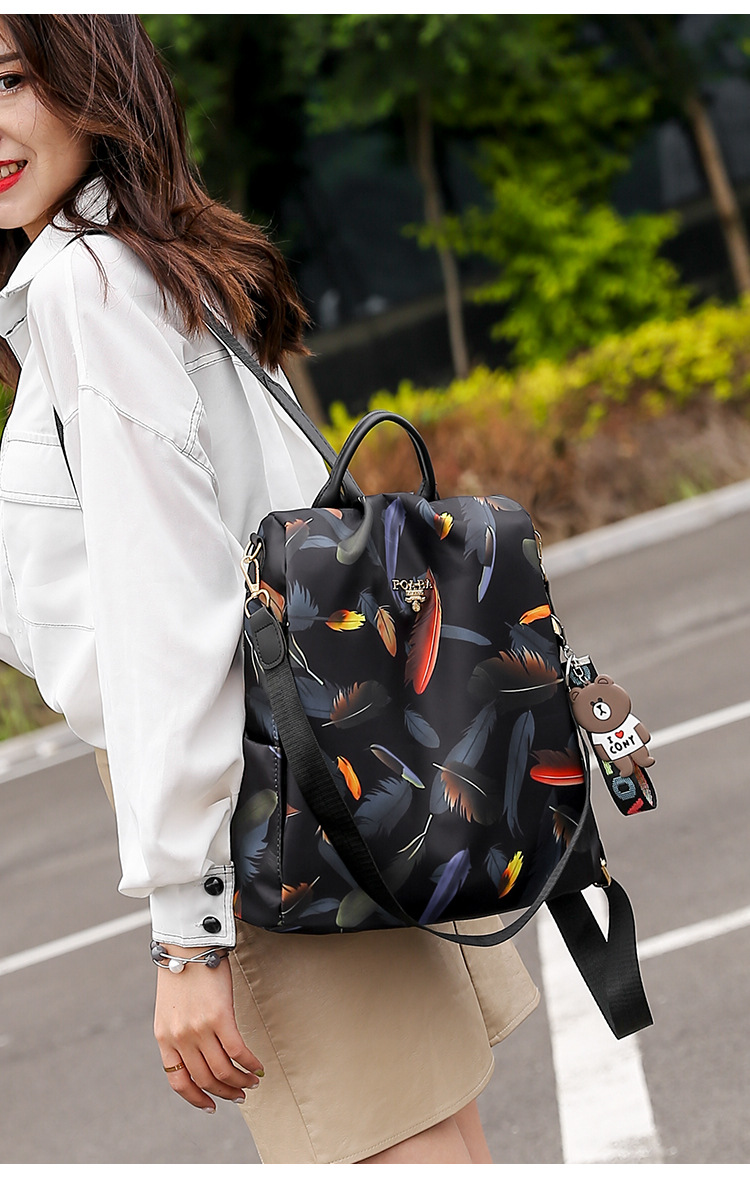 H8c93425c03684afc928aba5603ae1d759 Mochilas mujer 2019 New Oxford cloth waterproof student bag Travel casual backpack women outdoor bag mochila feminina CL05