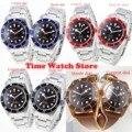 Corgeut 41 мм Miyota 82 20 атм Автоматические наручные часы для мужчин сапфировое стекло водонепроницаемый черный красный циферблат Светящийся сини...
