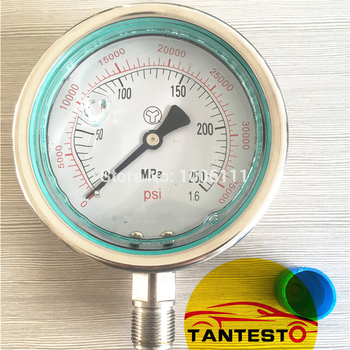 250MPA M20X1.5 High Pressure Fuel System Meter Gauge, 2500bar Common Rail High Pressure Gauge, 250MPA Hydraulic Gauge