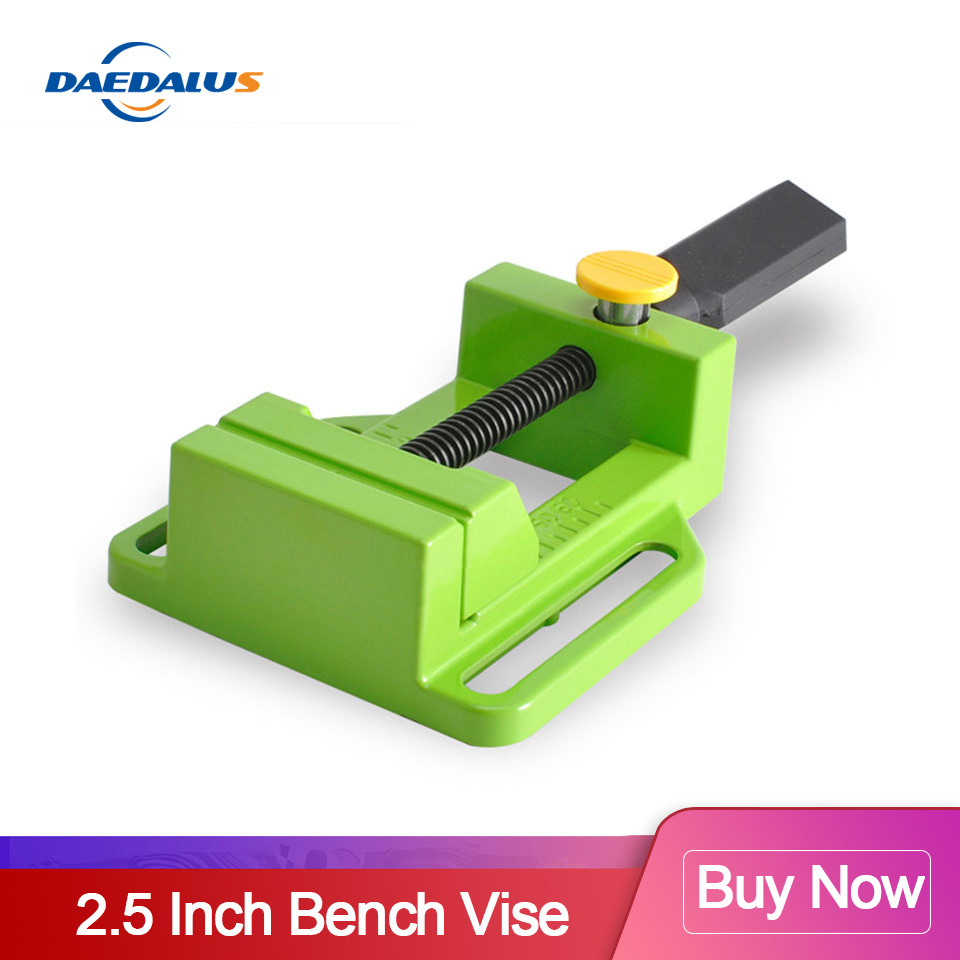 Mini Vise 2.5 Inch Bench Vise Multifunction Aluminum Manual Drill Press Table Vise For Woodworking Power Tools
