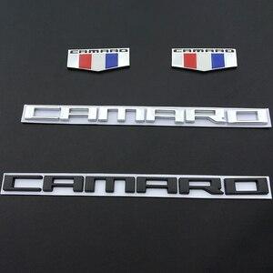 Insignia Exterior para Chevrolet Camaro campana delantera emblema Chevy ZL1 pegatina de maletero trasero bandera holandesa Metal automóvil Stying