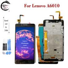 """5.0 """"lcd com quadro para lenovo a6010 a 6010 display lcd completo de tela toque sensor digitador assembléia substituição a6010 display"""