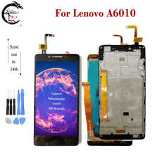 Pantalla LCD completa de 5,0 pulgadas con marco para Lenovo A6010 A 6010, montaje de digitalizador con Sensor táctil, reemplazo de pantalla A6010