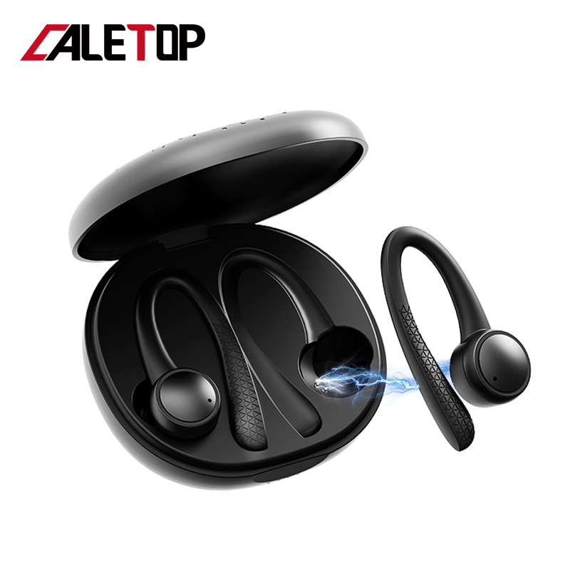 TWS 5.0 Bluetooth Earbuds For iphone For Xiaomi Wireless Headphones with Mic Sports Ear Hook Running Noise Cancelling Headsets image