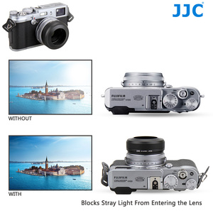 Image 5 - JJC Metal Lens Hood Shade with 49MM Filter Adapter Ring for Fuji FUJIFILM X100F X100T X100S X100 Camera Replaces AR X100 LH X100