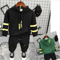 Children Tracksuit For Boys Sport Suits Cute Long Sleeved Hoodie and pants 2PCS Outfits Kids Suits 2 6years