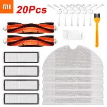 20 pçs hepa filtro principal escova mop pano kits de substituição para xiaomi mijia 1c/stytj01zhm robô aspirador peças acessórios