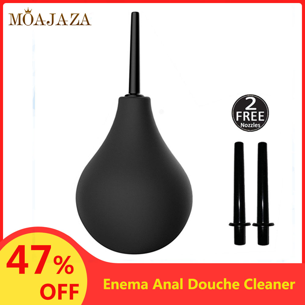 225mL Enema Anal Douche Cleaner 2 Nozzles Vagina Enema Irrigator Syringe Anal Shower Female Hygiene Products Bidet Accessories