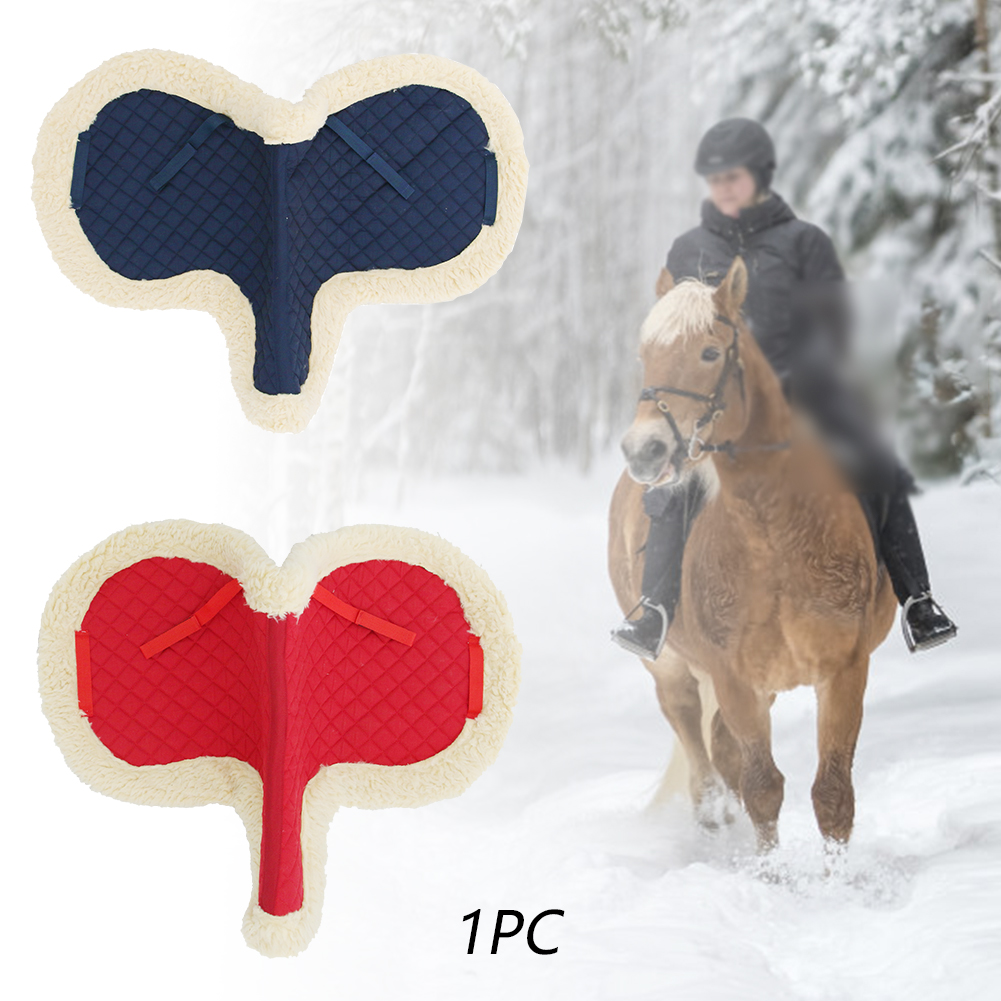 Horse Saddle Pad Seat Blanket Fluff Fabric Replacement Part Equestrian Supplies Riding Equipment 65x60cm Performance Bareback