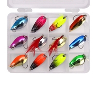 Makou Sequins 12Pcs 3G 3Cm Winter Fishing Lure Ice Fishing Jig Fake Artificial Bait Fishing Tackle|Fishing Lures| |  -