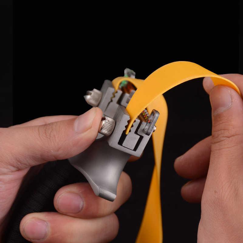 스테인레스 스틸 플랫 가죽 slingshot 야외 정밀 레이저 적외선 slingshot 사냥 경쟁 slingshot