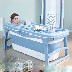 Складное ведро для ванны, большая ванна для взрослых, Детская изоляционная ванна для бассейна с термочувствительной вилкой для воды, утолще...